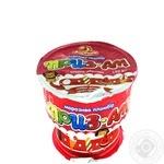 Морозиво Приз-АМ пломбір з підваркою Вишня та Абрикос Ласунка 150г