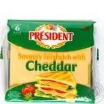Сыр плавленый President Чеддер для сендвичей 40% 120г