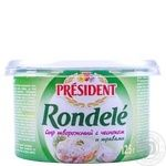 Rondele President with garlic and herbs 70% 125g