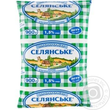Молоко Селянское ультрапастеризованное 1.5% 900г