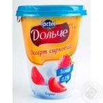 Десерт творожный Дольче клубника 0% 400г