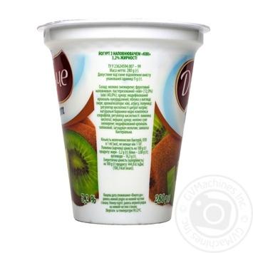 Йогурт Lactel Дольче Ківі 3,2% 280г - купити, ціни на Фуршет - фото 4