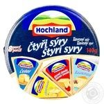 Сир асорті 4 сири Hochland коло 140г