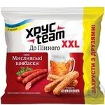 Сухарики ХрусTeam со вкусом охотничьи колбаски 110г