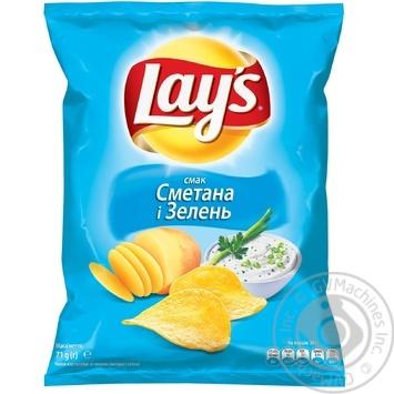 Чипсы Lay's со вкусом сметаны и зелени 71г