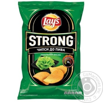 Чипсы Lay's Strong к пиву со вкусом васаби 120г