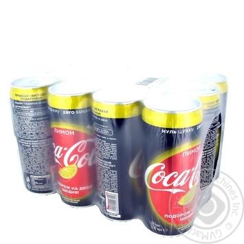 Напиток газированный Coca-Cola Zero Lemon ж/б 0,33л