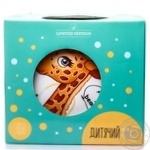 Набір посуду дитячий керамічний 2 тарілки, чашка Pretty Giraffe LimitedEdition 250мл