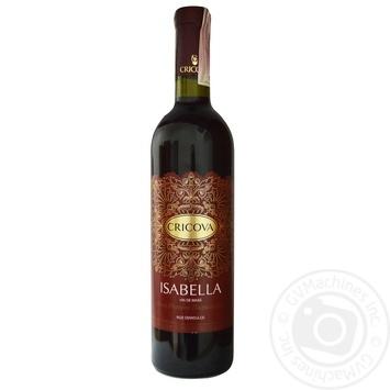 Вино Cricova Кружева Изабелла розовое полусладкое 0,75л