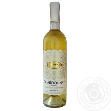 Вино Cricova Chardonnay біле напівсолодке 9-13% 0,75л