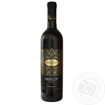 Вино Cricova Мерло червоне напівсолодке 9-13% 0,75л - купити, ціни на МегаМаркет - фото 1