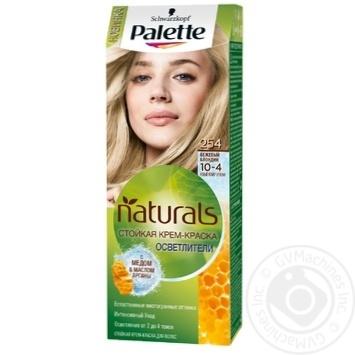 Краска для волос Palette Naturals 10-4 (254) Бежевый блондин 110мл - купить, цены на Novus - фото 1