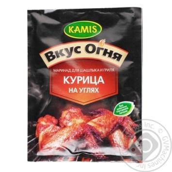 Суміш для маринаду для шашлику та гриля Kamis Курка на вугіллі 20г