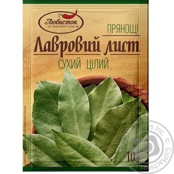 Лист лавровый Любисток целый 10г - купить, цены на Novus - фото 1