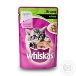 Корм Whiskas для кошенят з ягням в соусі 100г