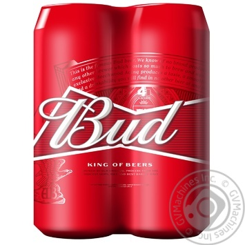 Bud Lager Beer 5% 4*0,5l can