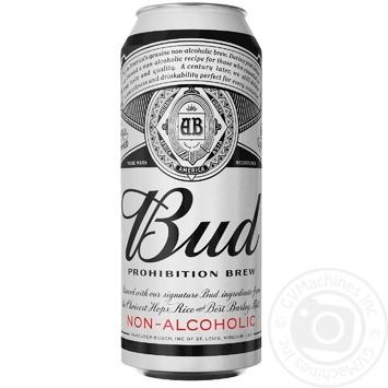 Пиво Bud Prohibition Brew светлое безалкогольное 0,05% 0,5л - купить, цены на МегаМаркет - фото 1