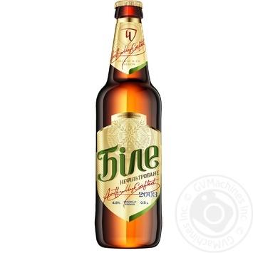 Chernigivske Bile Unfiltered Blonde Beer 0,5l glass - buy, prices for Novus - image 1