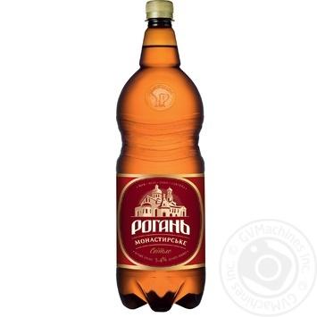 Пиво светлое Рогань Монастырское 2л - купить, цены на Фуршет - фото 1