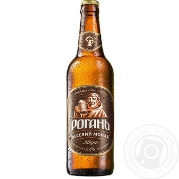Пиво Рогань Веселий Монах світле 6,9% 0,5л - купити, ціни на ЕКО Маркет - фото 1