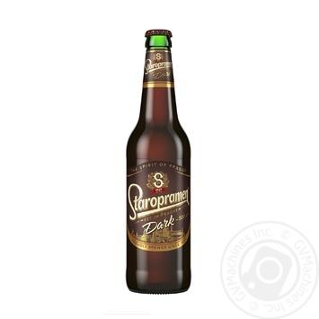 Пиво Staropramen Dark темное 0,5л стекло - купить, цены на Novus - фото 1
