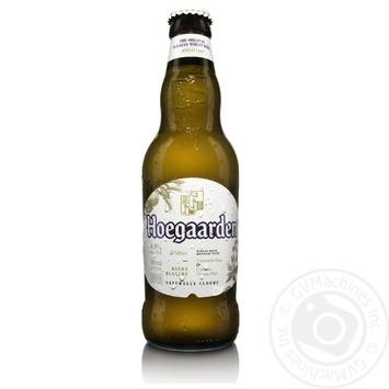 Пиво Hoegaarden Wit Blanche світле нефільтроване 4,9% 0,33л - купити, ціни на Novus - фото 1