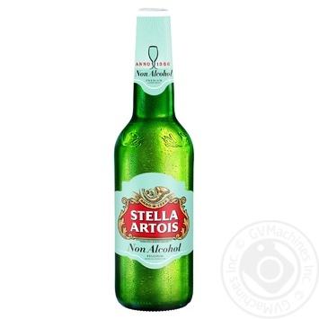 Пиво Stella Artois светлое безалкогольное 0,5% 0,5л - купить, цены на МегаМаркет - фото 1