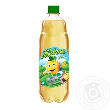 Напиток безалкогольный Живчик с соком яблока соковый сильногазированный 1л
