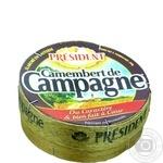 Сыр President Camembert de Campagne мягкий 45% 250г
