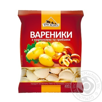 Three Bears Varenyky with potato and mushrooms 400g