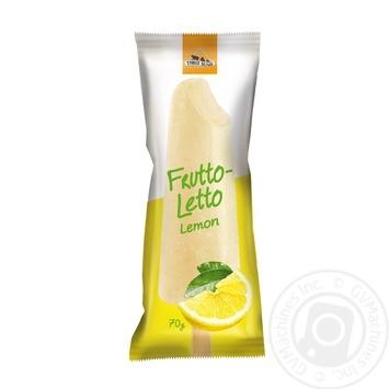 Морозиво Три Ведмеді Frutto Letto Сорбет лимон на паличці 70г