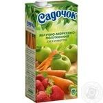 Sadochok apple-carrot-strawberry juice 0,95l