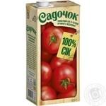 Сок Садочок томатный с солью прямого отжима 0,95л