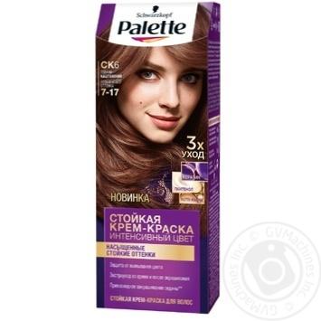 Краска для волос Palette интенсивный цвет 7-17 (CK6) теплый каштановый 110мл