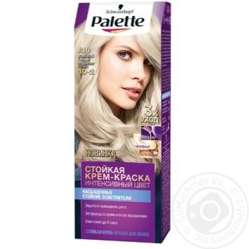 Краска для волос Palette интенсивный цвет 10-2 (A10) жемчужный блондин 110мл - купить, цены на Novus - фото 1