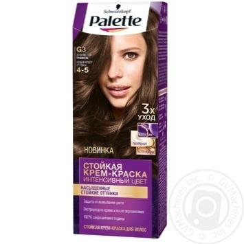 Краска для волос Palette интенсивный цвет 4-5 G3 золотистый трюфель 110мл - купить, цены на Novus - фото 1