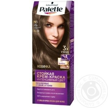 Скидка на Краска для волос Palette интенсивный цвет 6-0 (N5) темно-русый 110мл