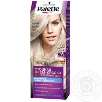 Palette Intensive Color 10-1 (C10) Silver Blonde Hair Dye 110ml - buy, prices for Metro - image 1