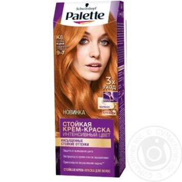 Скидка на Краска для волос Palette интенсивный цвет 9-7 (K8) светлый медный 110мл