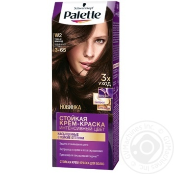 Скидка на Краска для волос Palette інтенсивний колір 3-65 (W2) темный шоколад 110мл