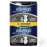 Pads Always Ultra Night Deo 12pcs