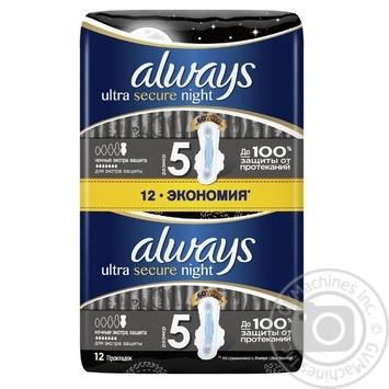 Гигиенические прокладки Always Ultra Night Deo 12шт