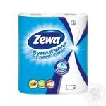 Полотенца бумажные Zewa белые 2-х слойные 2шт - купить, цены на Novus - фото 1