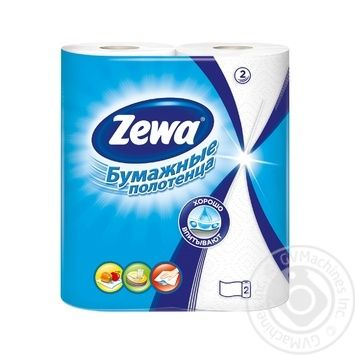 Zewa white 2-ply paper towel 2pcs - buy, prices for Novus - image 1