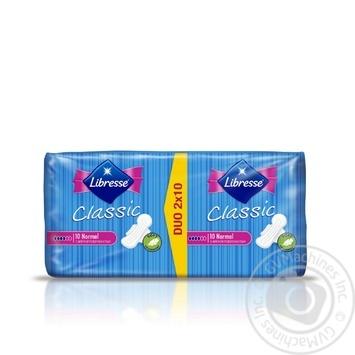 Прокладки гигиенические Libresse Classic Normal 4капли 20шт - купить, цены на Ашан - фото 2