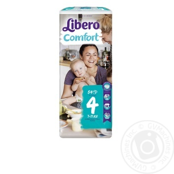 Подгузники Libero Comfort 4 7-11кг 54шт - купить, цены на Восторг - фото 1
