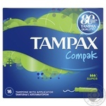 Тампоны Tampax Compak Super Economy 16шт - купить, цены на МегаМаркет - фото 2
