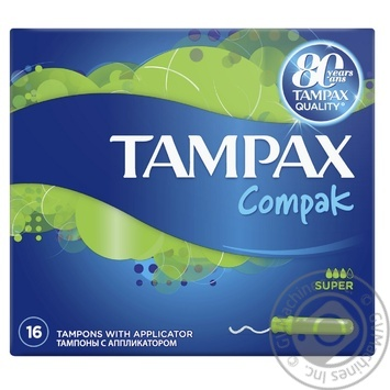 Tampax Compak Super Tampons with applicator 16pcs - buy, prices for Furshet - image 2