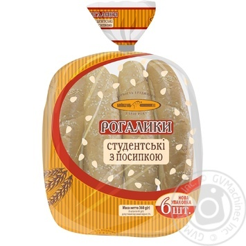 KyivHlib Studentski With Sesame Bagels 6pcs, 360g - buy, prices for Furshet - image 5