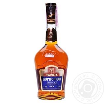 Коньяк Taврія Борисфен 3роки 40% 0,5л - купити, ціни на CітіМаркет - фото 1